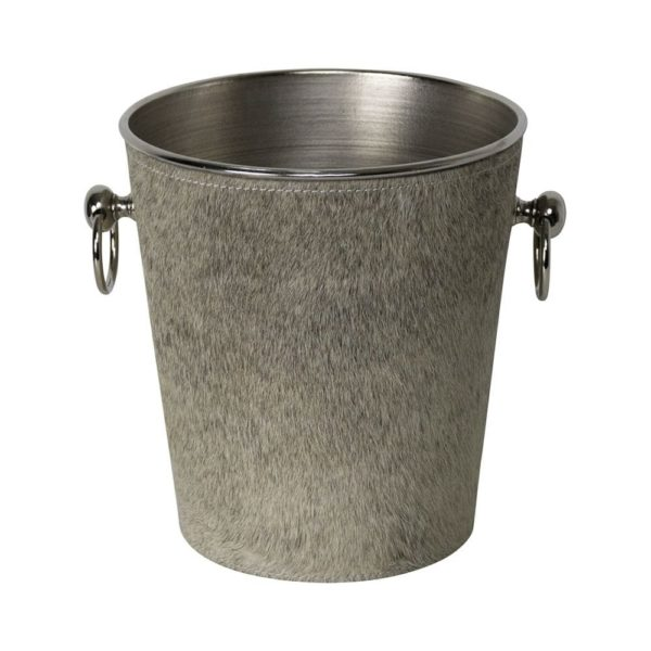 Champagne Cooler Cow Grey leather / aluminum - LifeDeals